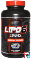 Lipo 6, Black, Nutrex Research Labs, (INT), 120 Capsules