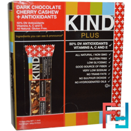 Kind Plus, Dark Chocolate Cherry Cashew + Antioxidants, KIND Bars, 12 Bars, 1.4 oz (40 g) Each