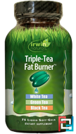 Triple-Tea Fat Burner, Irwin Naturals, 75 Liquid Softgels