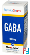 GABA, 100 mg, Superior Source, 100 MicroLingual Instant Dissolve Tablets
