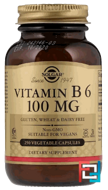 Vitamin B6, Solgar, 100 mg, 250 Vegetable Capsules