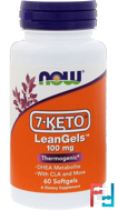 7-Keto, LeanGels, 100 mg, Now Foods, 60 Softgels