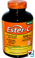 Ester-C with Citrus Bioflavonoids, 500 mg, American Health, 240 Veggie Caps