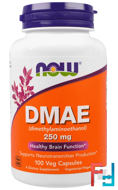 DMAE, Now Foods, 250 mg, 100 Veggie Caps