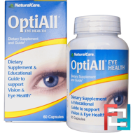 OptiAll Eye Health, Natural Care, 60 Capsules