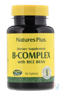 B-Complex with Rice Bran, Nature's Plus, 90 Tablets