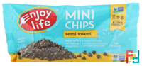Mini Chips, Semi-Sweet Chocolate, Enjoy Life Foods, 10 oz (283 g)