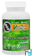 Omega 3 + Astaxanthin, Advanced Orthomolecular Research AOR, 60 Softgels