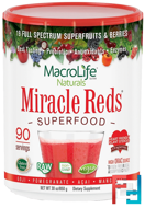Miracle Reds, Superfood, Goji- Pomegranate- Acai- Mangosteen, Macrolife Naturals, 30 oz, 850 g