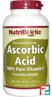 Ascorbic Acid, Crystalline Powder, NutriBiotic, 16 oz, 454 g