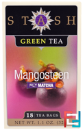 Green Tea, Mangosteen With Matcha, Stash Tea, 18 Tea Bags, 1.1 oz, 32 g