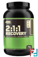 2:1:1 Recovery, Rapid Replenishment & Recovery Formula, Optimum Nutrition, 1700 g