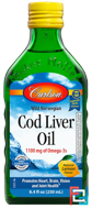 Wild Norwegian Cod Liver Oil, Natural Lemon Flavor, Carlson Labs, 8.4 fl oz (250 ml)