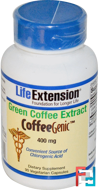 CoffeeGenic, Green Coffee Extract, Life Extension, 400 mg, 90 Veggie Caps