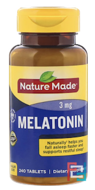 Melatonin, Nature Made, 3 mg, 240 Tablets