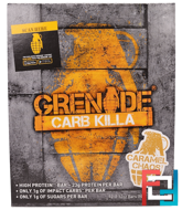 Carb Killa Bars, Caramel Chaos, Grenade, 12 Bars, 2.12 oz (60 g) Each