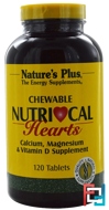 Nutri-Cal Hearts, Chewable, Nature's Plus, 120 Tablets