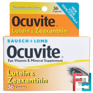 Ocuvite, Lutein & Zeaxanthin, Bausch & Lomb, 36 Capsules