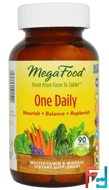 One Daily, MegaFood, 90 Tablets