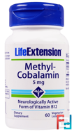 Methyl-Cobalamin, 5 mg, Life Extension, 60 Vegetarian Lozenges