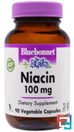 Niacin, 100 mg, Bluebonnet Nutrition, 90 Veggie Caps