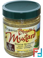 Organic Brown Mustard, Eden Foods, 9 oz (255 g)