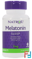 Melatonin, Natrol, 1 mg, 90 Tablets