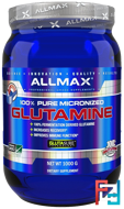 100% Pure Japanese-Grade Glutamine Powder, ALLMAX Nutrition, 2.2 lbs, 1000 g