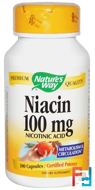 Niacin, 100 mg, Nature's Way, 100 Capsules