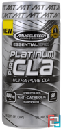 Platinum, Pure CLA , Muscletech, 90 Soft Gel Caps