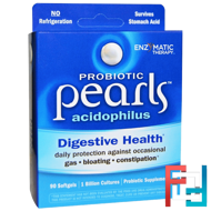 Probiotic Pearls Acidophilus, Enzymatic Therapy, 90 Softgels