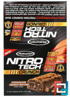 Nitro Tech Crunch Bars, Peanut Butter Chocolate, Muscletech, 12 Bars, 2.29 oz (65 g) Each