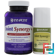 Joint Synergy+ Value Pack, MRM, 120 Capsules and 2 fl oz Roll-On