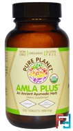 Organic Amla Plus, 500 mg, Pure Planet, 100 Tablets