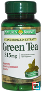 Green Tea, Nature's Bounty, 315 mg, 100 Capsules