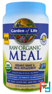 Shake & Meal Replacement, Vanilla, Garden of Life, Raw Organic Meal, 34.2 oz (969 g)