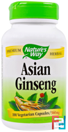 Asian Ginseng, Nature's Way, 560 mg, 100 Veggie Caps
