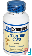 Strontium Caps, Mineral for Bone Health, 750 mg, Life Extension, 90 Veggie Caps
