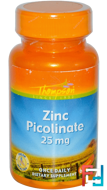 Zinc Picolinate, Thompson, 25 mg, 60 Tablets