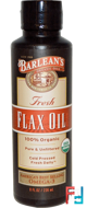 Organic, Fresh Flax Oil, Barlean's, 8 fl oz, 236 ml