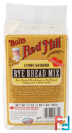 Rye Bread Mix, Bob's Red Mill, 17 oz (481 g)