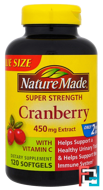 Cranberry with Vitamin C, Super Strength, Nature Made, 450 mg, 120 Softgels
