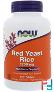 Red Yeast Rice, Now Foods, 1200 mg, 120 Tablets