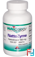 NattoZyme, Nattokinase, Nutricology, 100mg, 180 Softgels