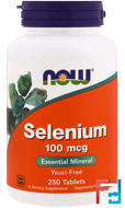 Selenium, Now Foods, 100 mcg, 250 Tablets