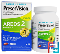 PreserVision, AREDS 2 Formula, Eye Vitamin & Mineral Supplement, Bausch & Lomb, 120 Soft Gels