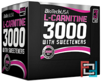 L-Carnitine Ampule 3000, BioTech USA, 20 amp * 25 ml