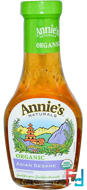Organic. Asian Sesame Dressing, Annie's Naturals, 8 fl oz (236 ml)