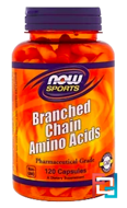 Branched Chain Amino Acids, Now Foods, 120 сapsules