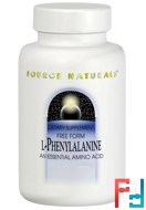 L-Phenylalanine, Source Naturals, 500 mg, 100 Tablets